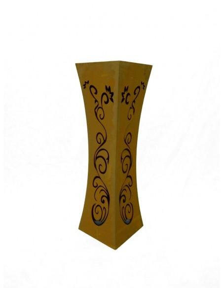 taillierte Säulen Säule Tailiert Ornament Edelrost 100 cm Produkdetails:  Höhe: 100 cm Breite: 30 x 30 cm ohne Schale