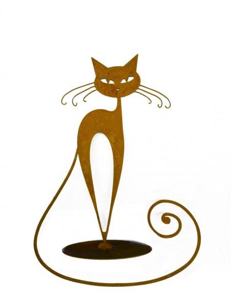 """Deko Katzen und Mäuse Rostkatze -Walburga- Edelrostkatze """"Walburga"""" zur Dekoration für Ihren Garten, Eingangsbereich oder Laden"""