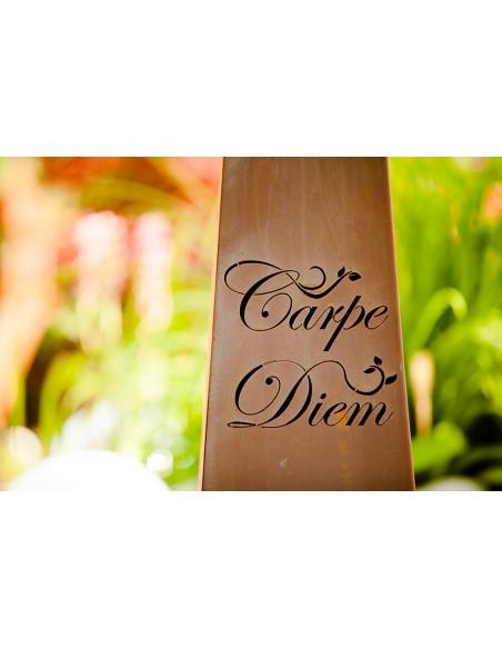 Säule Trapez - Carpe Diem - groß - 116,5 cm hoch - inkl. Schale