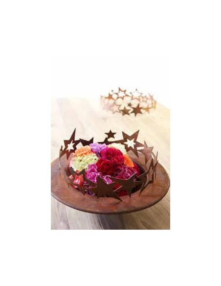 Sterne - Weihnachtstern Deko Edelrost Sternenring Ø 30 cm zum dekorieren - Umrandung für Adventskranz  zum dekorieren als weihn