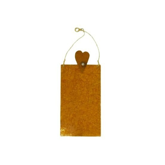 Auf Rost schreiben Blanko Rostschild klein 15 x 25 cm Motiv Herz hübsches Rostschild zum selber beschriften Stifte finden Sie be