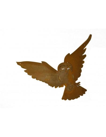 fliegende Schleiereule zum Aufhängen - 35 cm breit