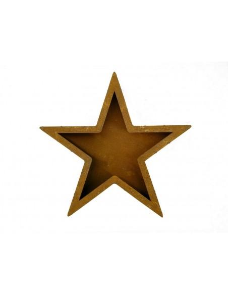 Rostiger Stern zum Bepflanzen 45 cm Ø