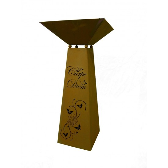 trapezförmige Säulen Säule Trapez - Carpe Diem - groß, 116,5 cm hoch, inkl. Schale Gesamthöhe 116,5 cm Breite 30 x 30 cm inkl. S