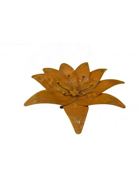 Katalogartikel Feuerblume -Apollo- groß- zusammenfaltbar massive und stabile Feuerschale als Blume Blütenlänge ca 60cm,  Gesam