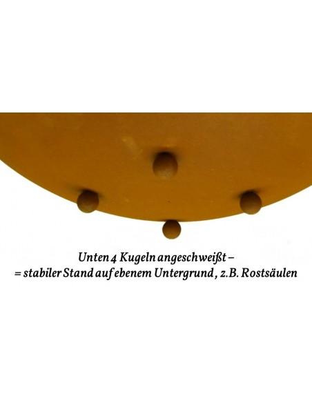runde Rostschale 58 cm groß - feuerfest