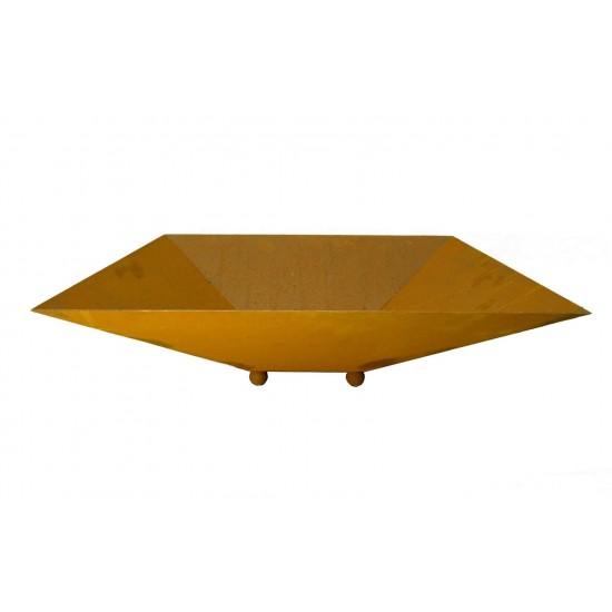 Rost Schale viereckig hoch 53 x 53 cm - Feuerfest Schalen für Rostsäulen 53 x 53 cm.