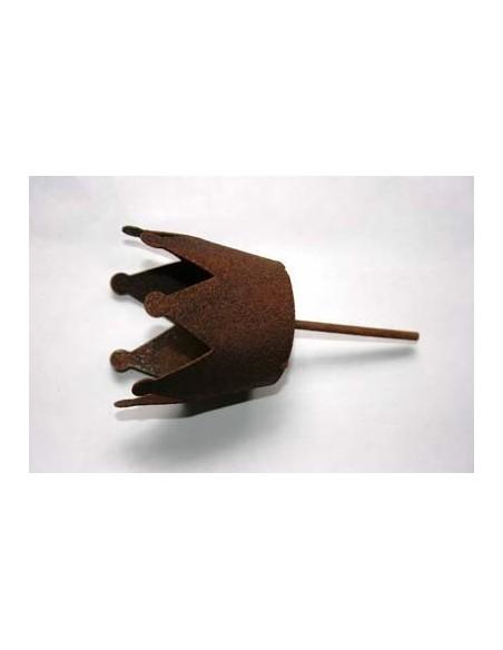 Teelichthalter Krone Ø 7cm mit Nagel für Gestecke - Kerzenteller mit Dorn