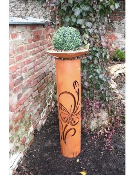 runde Rostsäulen Rostsäule - Schmetterling, Höhe 100 cm Runde Säule aus Edelrost mit Schmetterlingsmotiv Eine schöne runde Edelr