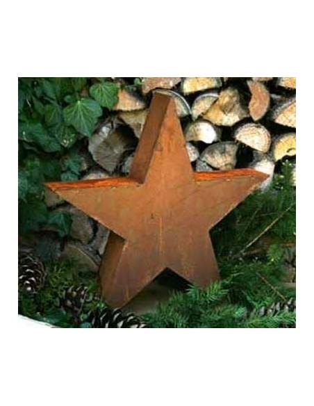 weihnachtlicher Stern in Rostoptik