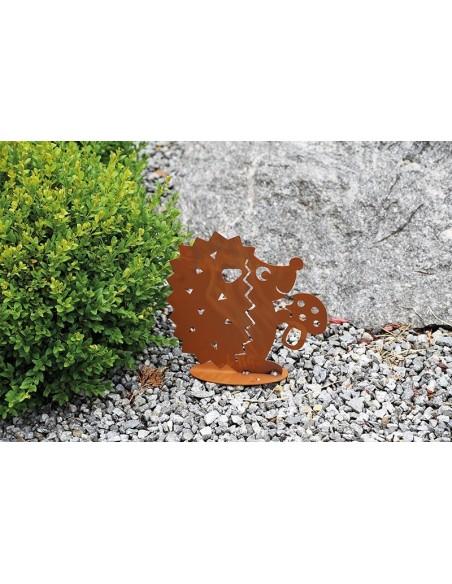 Pilz Deko Rost Igel mit Pilz, klein, Höhe 20 cm Höhe: 20 cm Breite: 21 cm Platte: 14 cm Der Igel hält einen Fliegenpilz in de