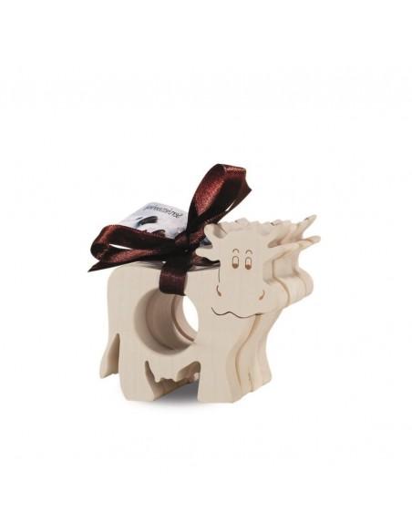 Allgäu Deko Serviettenringe 4 tlg. Kuh 4 Stk Serviettenringe Motiv Kuh als ausgefallene Tischdekoration, speziell getrocknetes