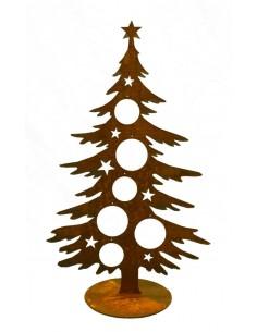 Weihnachtsbaum Metall 60 cm hoch für Christbaumkugeln - Dekotanne