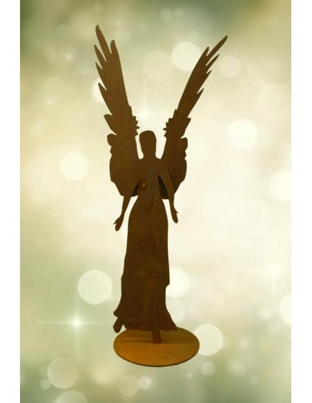 Figur Engel Celeste aus 3 mm Stahl, Höhe 87 cm