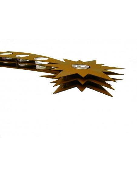 Edelrost Teelichthalter Sternschnuppe 85 cm lang