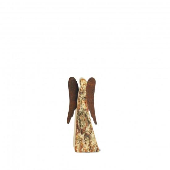 9 cm Rindenengel -Achaiah- mit rostigen Flügeln