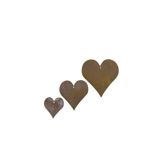 Deko Herzen Metall rostig im Set zum Basteln