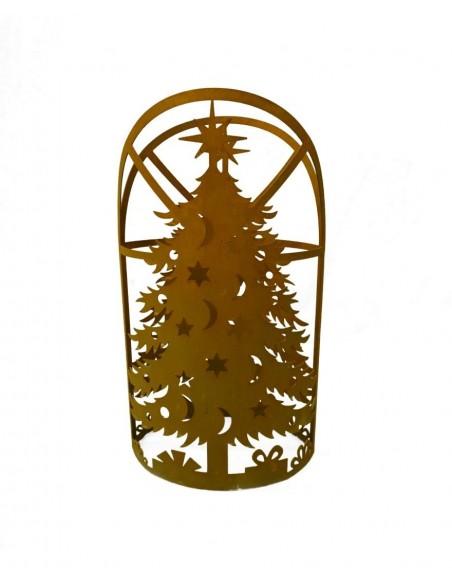 Rostdeko zum Beleuchten Edelrost Windlicht - Weihnachtsbaum, Höhe 53 cm Ein Weihnachtstraum:Für alle, denen festliche Dekoratio