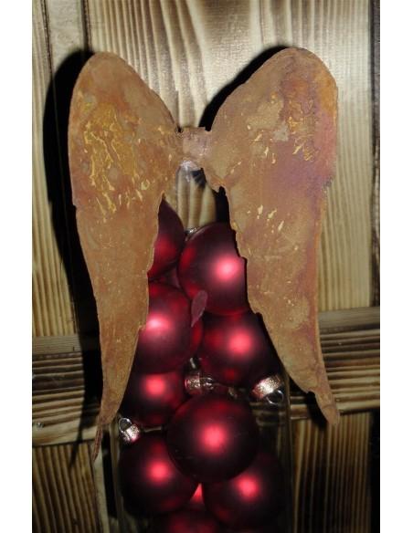Lnge Flügel nach untern für Weihnachtsdeko aus Glas