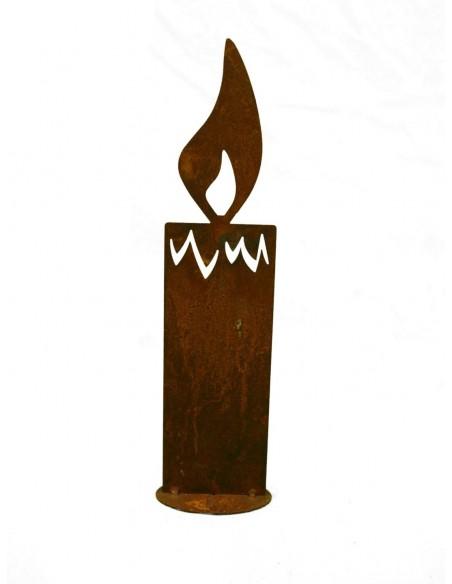 Weihnachtskerze nicht brennbar aus Metall