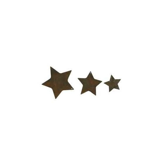 """3 tlg. Sternenkette """"geschlossen"""" aus Edelrost schöne Weihnachtsdeko"""