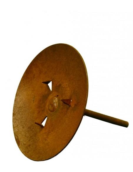 Metall Kerzenteller Ø 9 cm mit Eisenstab für Stumpenkerzen Kerzenteller basteln DiY
