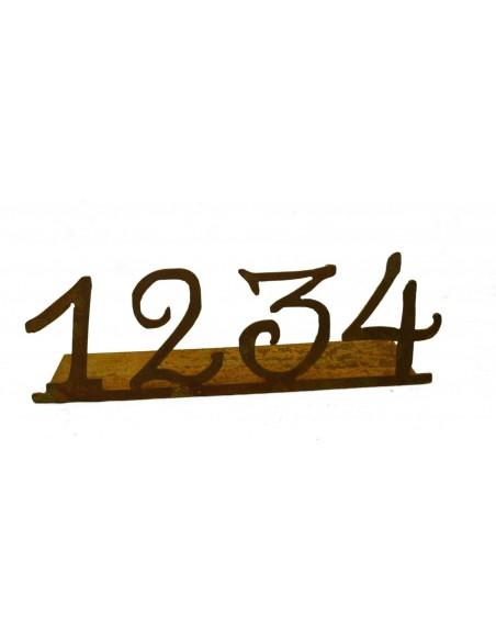 Rostige Adventszahlen 1,2,3,4, auf Platte Adventsdeko