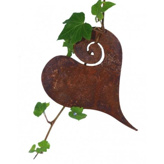 Herz Curl zum Aufhängen 12 cm