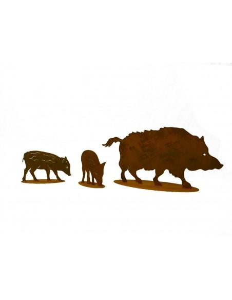 Edelrost Wildschwein 100 cm breit
