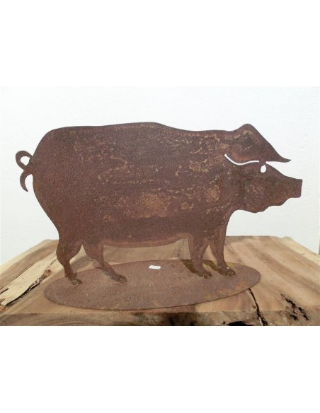 Deko Schwein Metall
