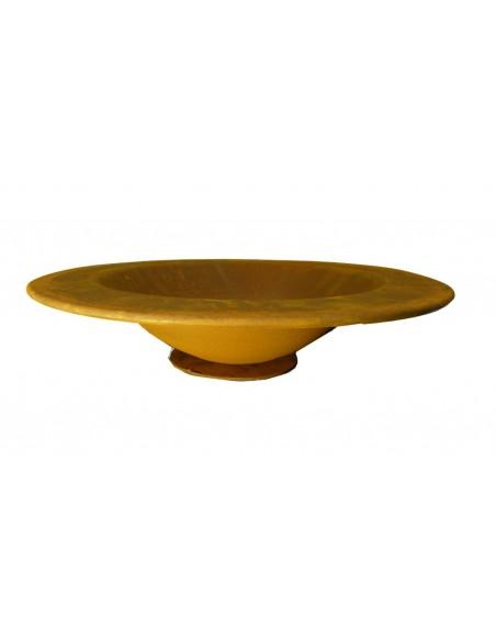 Runde Rost Schale mit Rand 40 cm Ø