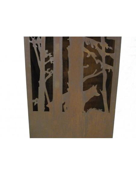 Rost Säule Wald und Wild 120 cm hoch Fuchs