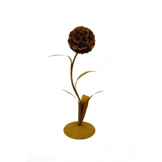 Edelrost Pusteblume mit 1 Blüte