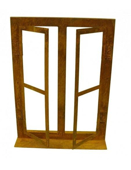 Edelrost Deko Fenster klein 45 cm hoch