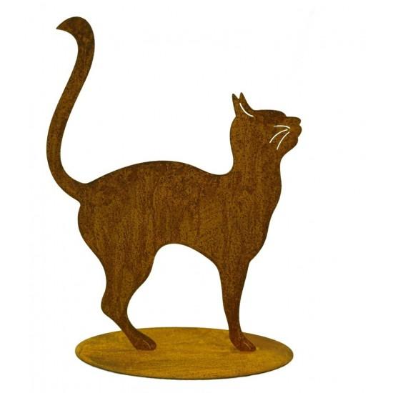 Katze auf Platte