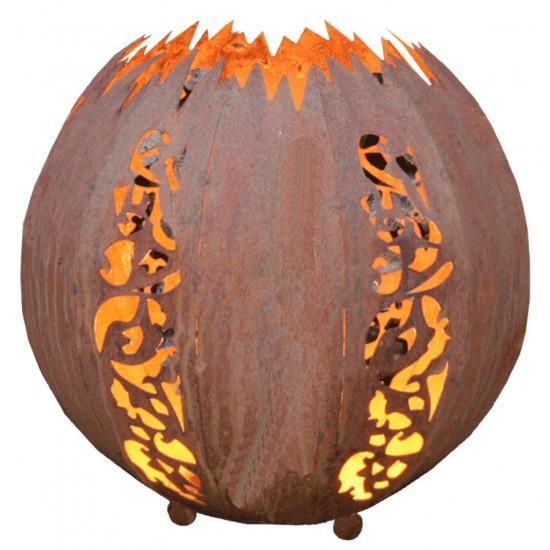 Kugel Mosaik D: 20 cm zum Beleuchten -Edelrostkugel