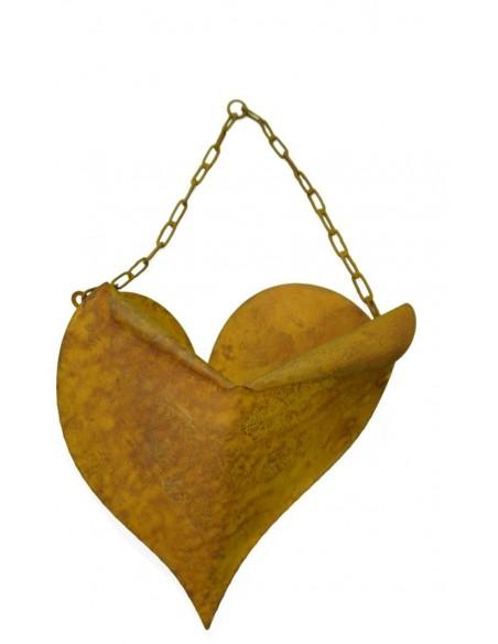 Edelrost Herz zum hängen