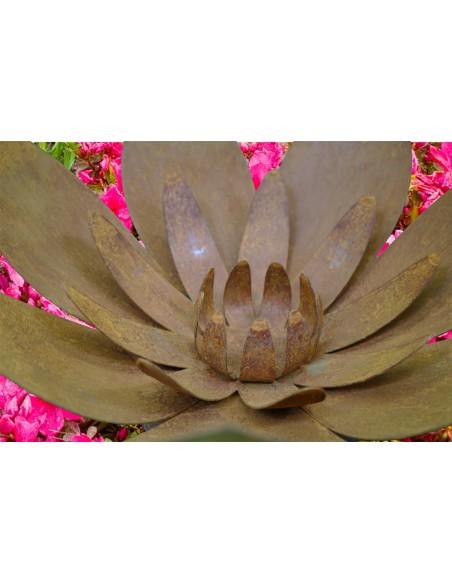 Edelrost Blüte auf Platte Ø 30 cm