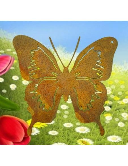 filigraner Edelrost Schmetterling 12x 12 cm zum Hängen