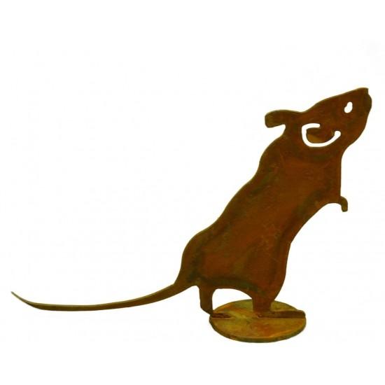 Maus auf Platte 12 cm