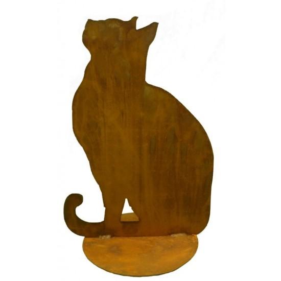 Katze sitzend auf Platte