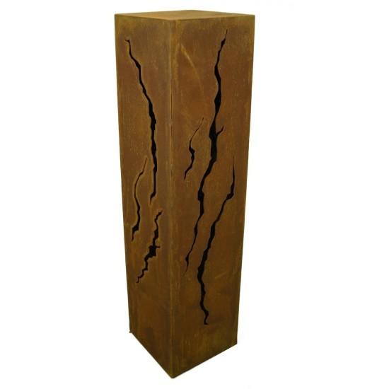 Rost Säule Risse 80 cm hoch rechteckig