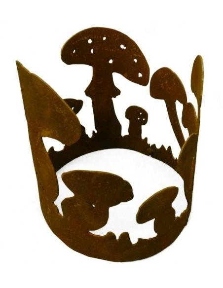 Rost Dekoring Pilze 15 cm Durchmesser