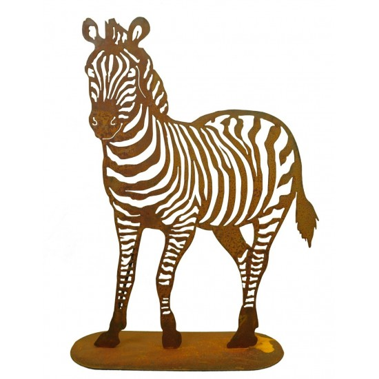 Edelrost Zebra in unterschiedlichen Größen zum Aufstellen im Garten
