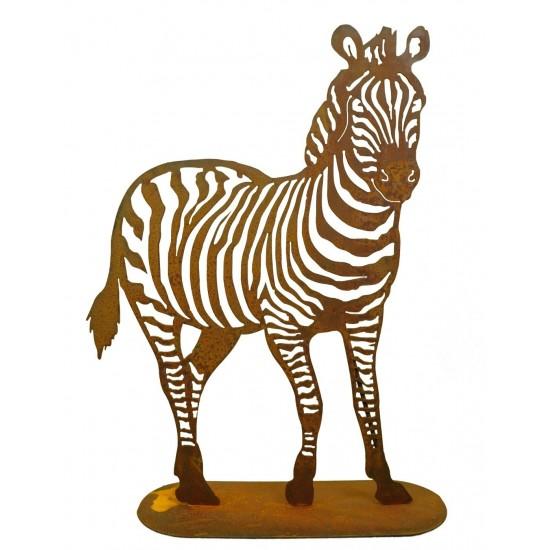 Große Tierfigur Zebra als wahrer Blickfang für den Garten