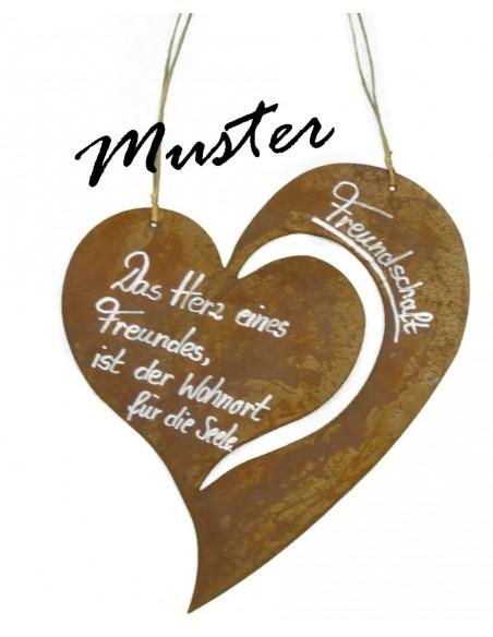 Blanko-Rostschild Herz Christine 30 cm Breit