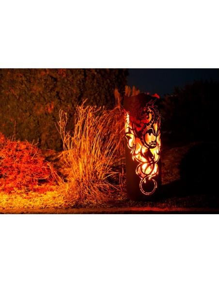 Edelrost Feuerturm  Dragon - hohe Drachenfeuersäule