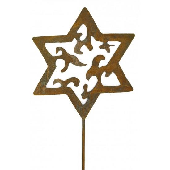 Stern aus Metall auf Stab 1m