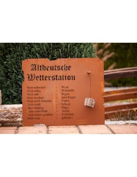 Altdeutsche Wetterstation zum Hängen, Rost