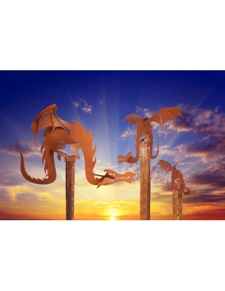 Magic Dragon inkl. Holzbalken Gr. 1, Rost